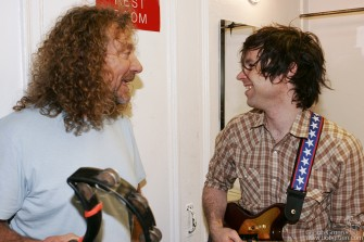 Robert Plant & Ryan Adams share a laugh.