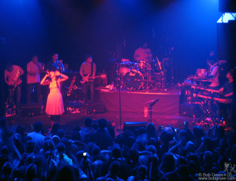 April 11 - Lily Allen played a great show at the Fillmore NYC @ Irving Plaza. She had a band with horns and the fans loved her.