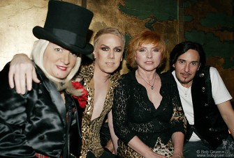 "Event ""hostess with the mostess"" Chi Chi Valenti with Miss Guy, Debbie Harry & DJ Johnny Dynell."