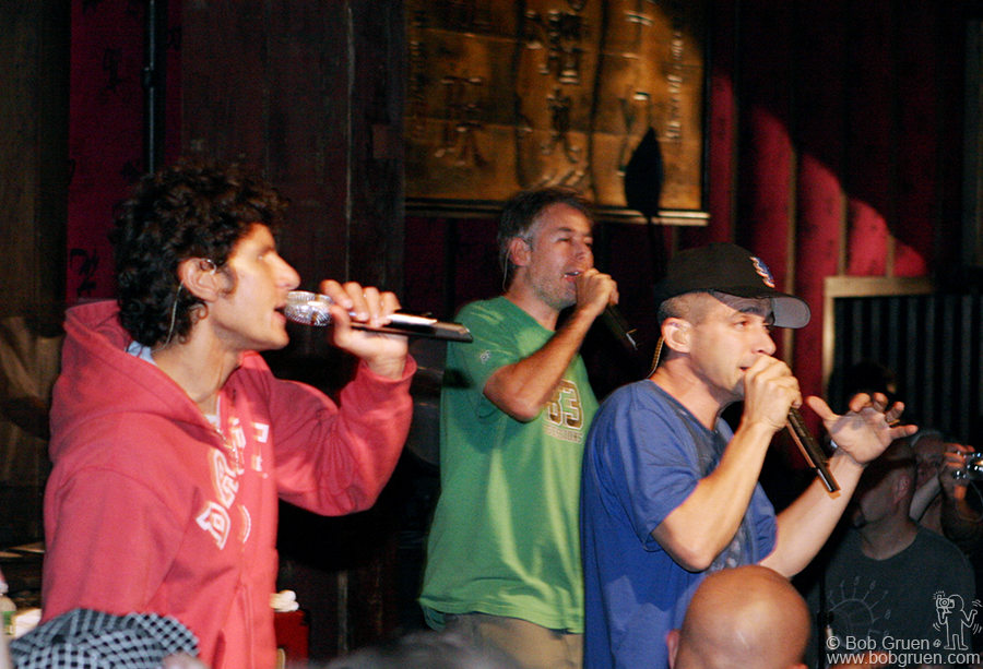 Headliners the Beastie Boys put on a rare small club show for the benefit.