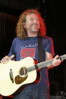 "Robert Plant was the star of the night, playing ""Ramble On"" from Led Zeppelin II."