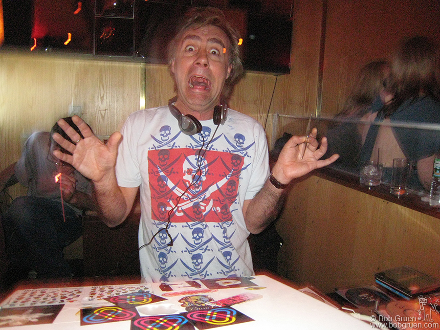 May 23 - NYC - Glen Matlock of the Sex Pistols has a new profession and has been traveling the world playing records as a celebrity DJ. I recently saw him at the Marquee Club in New York. He also is playing with a new band, Slinky Vagabond