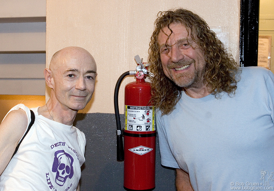 Guest DJ for the night was BP Fallon posing here with his old friend Robert Plant