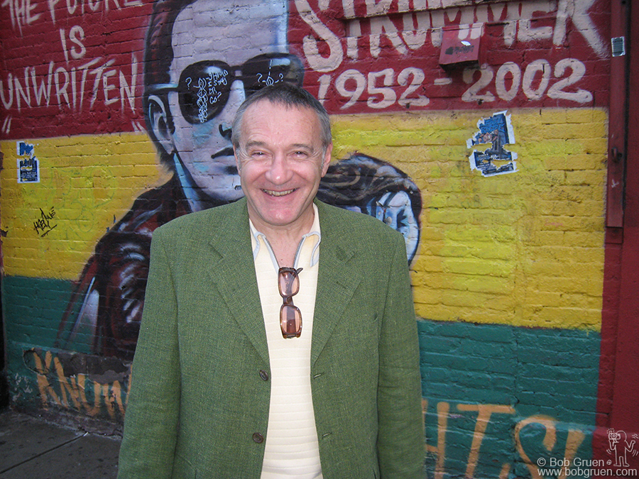 June 11 - NYC - London author Chris Salewicz had a book release party for his Joe Strummer biography 'The Ballad of Joe Strummer' at East Village bar Niagra.