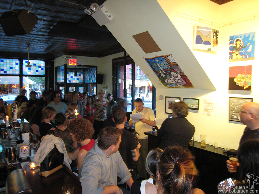 June 11 - NYC - At Niagra, where Joe Strummer downed a few on occasion, Chris read excerpts from the book.