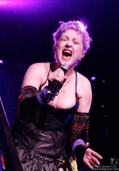 Cyndi Lauper really puts out a lot of feeling at her shows and her fans love her for it. She was full of energy and passion and played to the giant Radio City theater in a very personal touching way.