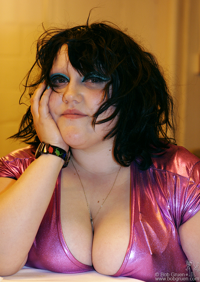 Beth Ditto, lead singer of the Gossip, brought the house down with her huge voice, and was a much talked about hit of the night.