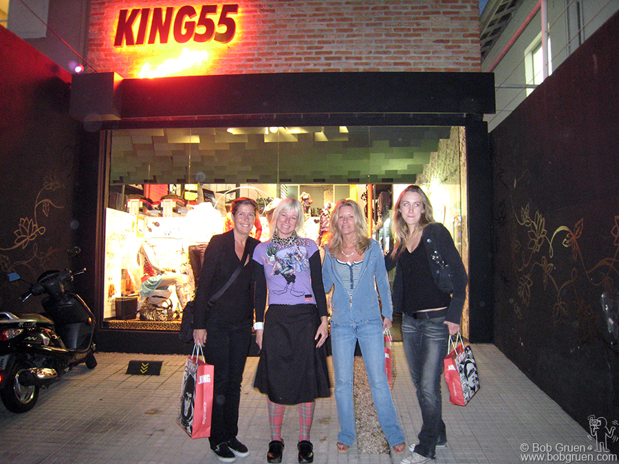 June 29 - Sao Paulo - We went to the King 55 store run by Regina Endres and I got some of the best jeans I've ever worn. Tito Ficarelli, who designed my ROCKERS exhibition, designed this fabulous store, check it out!