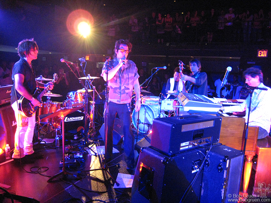 July 17 - NYC - Designer and Rocker Michael H with his band at the Hilfiger Jam party at the Highline Ballroom.