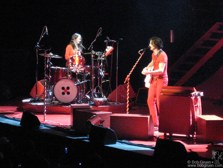 The White Stripes made the huge Madison Square Garden seem like an intimate room. I was very impressed that only two people could put out such a big sound.