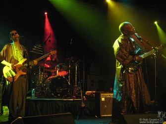 Vieux Farka Toure has a really interesting sound, mixing his African roots with a rock rhythm section.