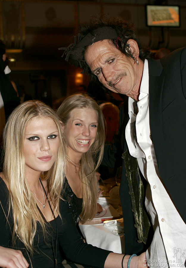 Keith Richards with his daughters Alexandra & Theodora