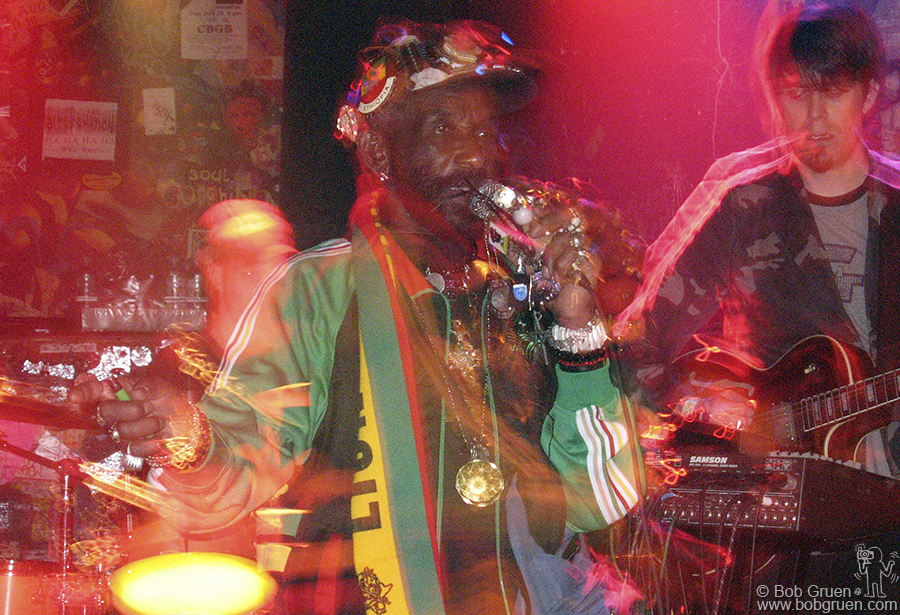 """Sept 25 - NYC - Reggae Producer/Legend Lee """"Scratch"""" Perry played in late September, just a few weeks before CBGB closed. CB's has always had a real variety of acts."""