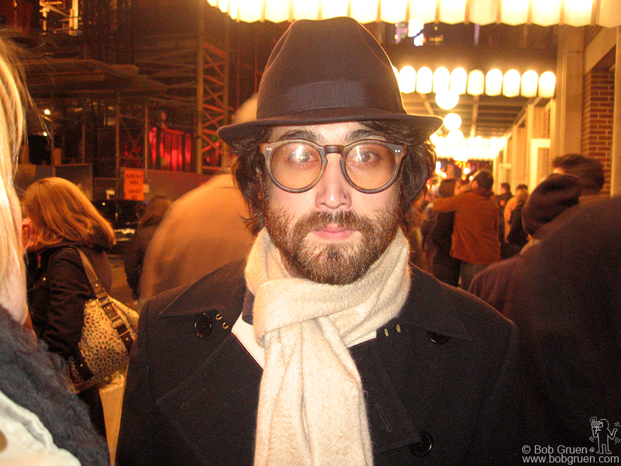 Dec 4 - NYC - Sean looked good after his show at Town Hall in New York in December.