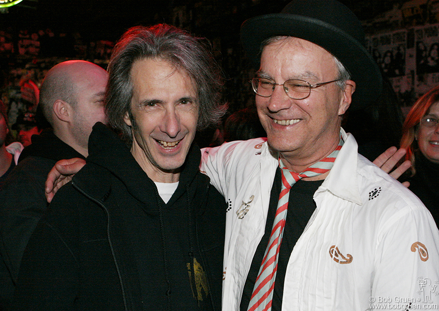 Oct 14 - NYC - Lenny Kaye and Walter Lure hung out at the bar for the rest of the night reminiscing about the old days.