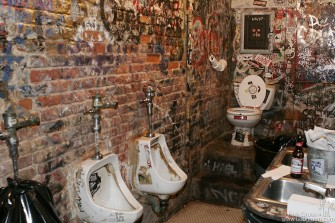 The famous bathrooms were one of the things that made CBGB different, and I'm sure we won't see this again, but maybe that's OK.