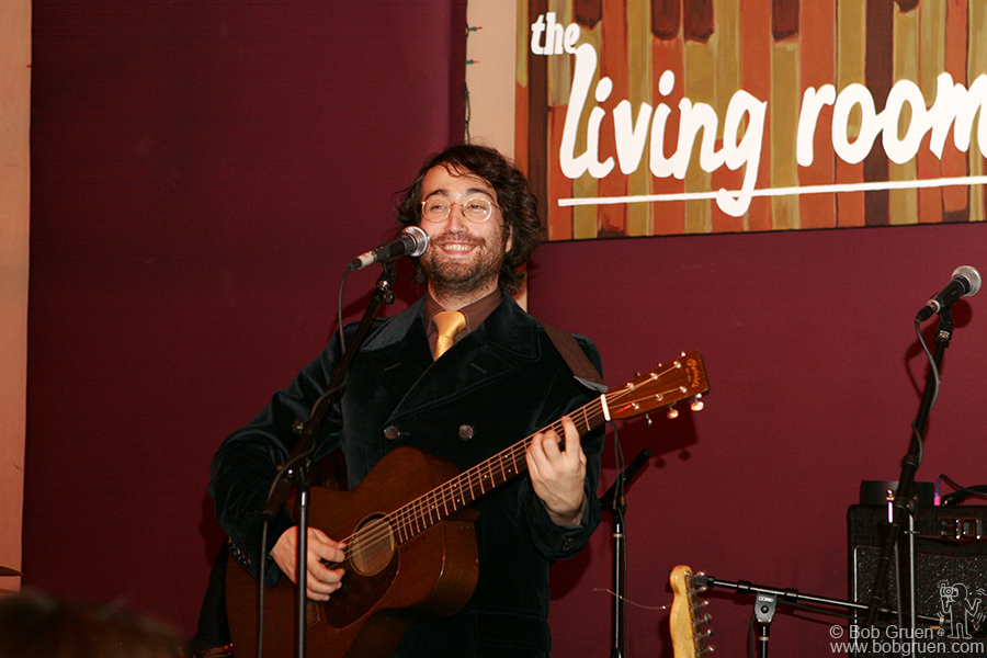 """Sean played songs from his new album """"Friendly Fire"""" as well as some old ones."""