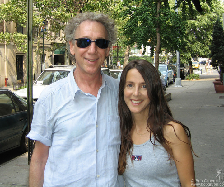Aug 5 - NYC - America's sweetheart, Martha Quinn of MTV's early days is now a DJ for Sirius Radio. For her press photo we spent a nice summer day walking around her old Lower East Side neighborhood.