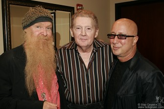 Billy Gibbons and Paul Shafer came back to say Hi to Jerry Lee before he went on, and to talk about his upcoming appearance on the David Letterman show.