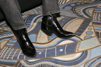 With these patent leather boots on, Jerry Lee's ready to go!