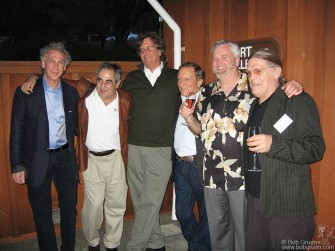 Sept 2005 - Mumm Napa Fine Art Photography Gallery, in connection with the Morrison Hotel Gallery, opened an exhibition of Rock & Roll photography with a group of photographers rarely seen together. Above from left next to me is Jim Marshall, Ethan Russel, Baron Wolman, Michael Zagaris, and Henry Diltz.