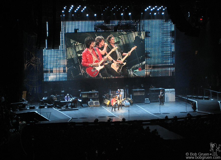 "Sept 13 - NYC - The Rolling Stones rock out at Madison Square Garden. It seems like they prove that ""bigger is better""."