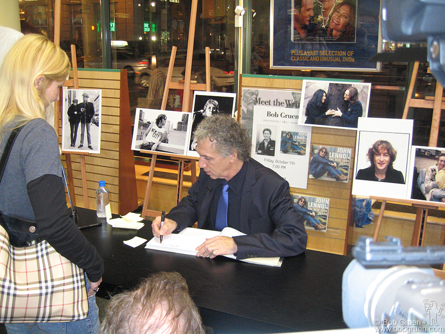 "Oct 7 - NYC - When my book ""John Lennon, The New York Years"" was released in October I gave a reading at Barnes and Noble in Chelsea and a slide talk at City University of New York."