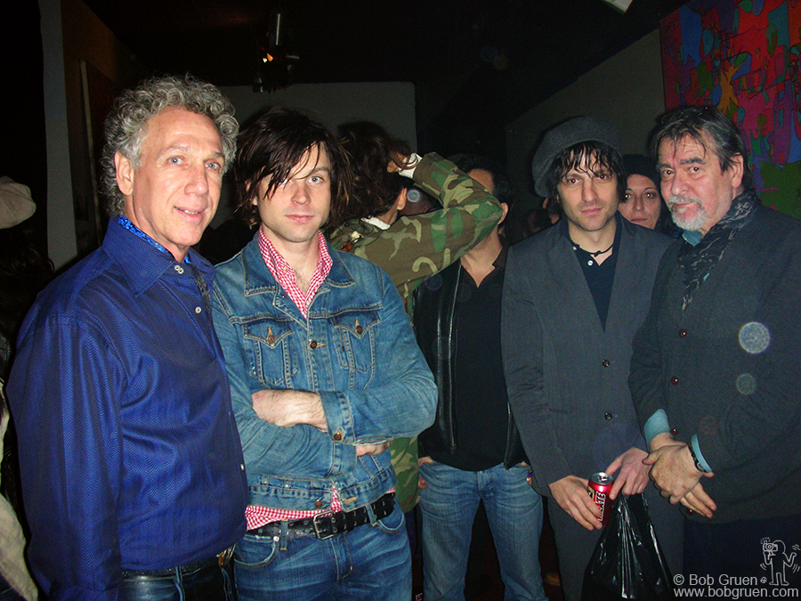Oct 23 - NYC - Ryan Adams and Jesse Malin were among the friends who celebrated my 60th birthday at a party in the New York loft of Giorgio Gomelsky, above on the right.