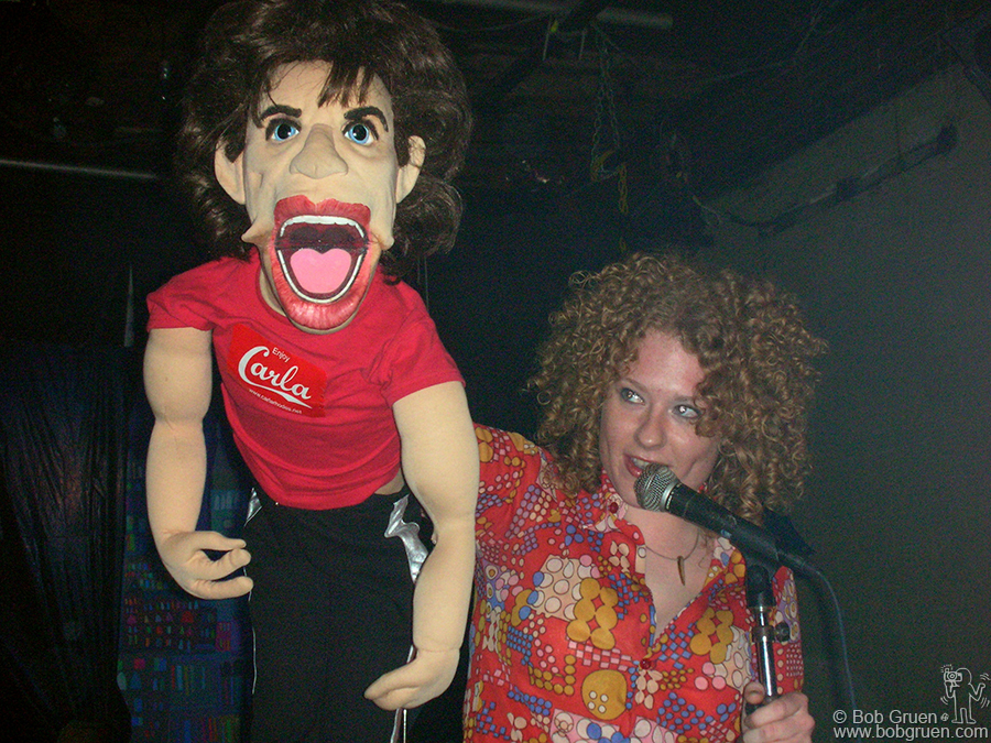 Carla Rhodes does her ventriloquist act with her Mick Jagger dummy. She also has a Keith Richards doll and her show is quite funny.