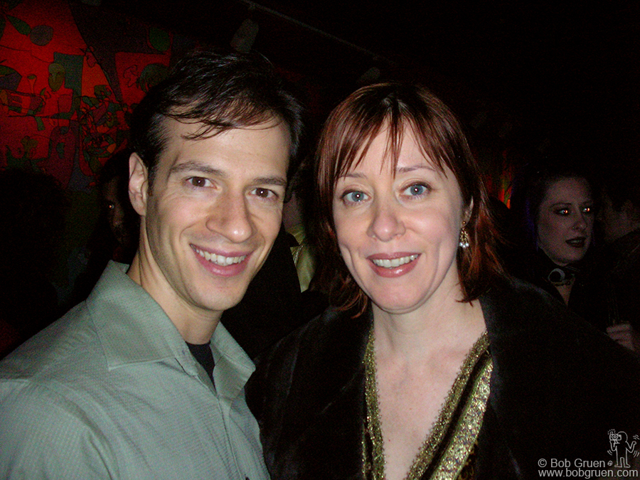 Suzanne Vega and a friend had a good time at my birthday party.