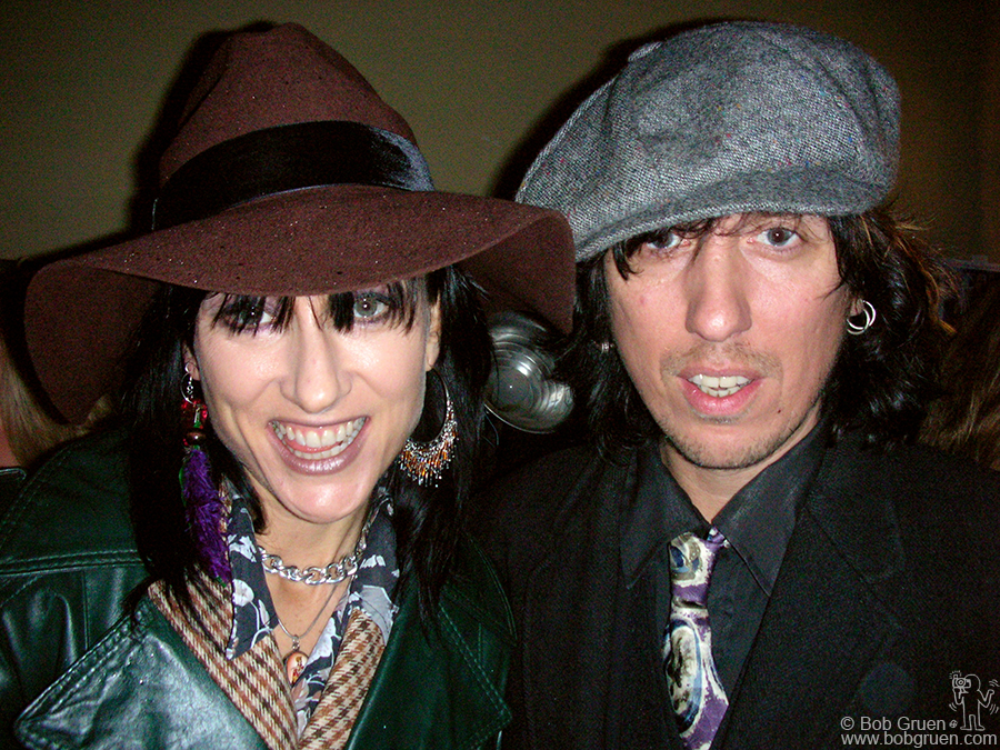 Hard working husband and wife Sammy Yaffa and Karmen Guy take time out from their Mad Juana gigs to come to my party.