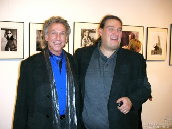 "Oliver Schwartzkopf introduced me at the opening of my exhibition at his new ""Berlin Rock Photo Gallery""."
