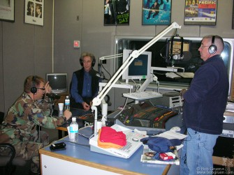My first stop in Tokyo was at the Armed Forces Network radio station for an interview with Vargas and the Gunny on the Rock of Ages.