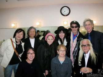 I spoke at the memorial for John Lennnon in Tokyo and backstage I was greeted by old friends. Above in the front row are film producer Kaz Kuzui, his wife (and my high school buddy) film director Fran Kuzui and Yuya Uchida, in the second row I'm standing with actor/rock star Diamond Yuki, Beatles fan club head Tetsuo Hamada, model/DJ Yoko Ayukwa with her parents Sheena and Makoto.