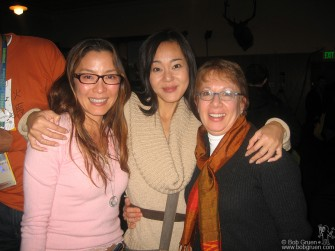 At the Sundance Film festival my friend Fran Kuzui moderated a panel discussion that included left, actresses Michelle Yeoh (Crouching Tiger, Memoirs of a Geisha) and middle is Yunjin Kim (Lost TV series).