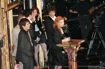 March 13th - Blondie was inducted into the Rock & Roll Hall of Fame. Some original members were miffed as Debbie did a set with the new linup. The Sex Pistols were also inducted but didn't show up.