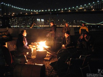 Julien Temple came to New York working on a documentary film about Joe Strummer. He filmed many of Joe's friends (me included) talking around a campfire under the Brooklyn Bridge.