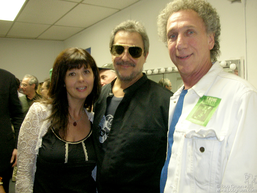 June 1 - NYC - I went to see Jakob Dylan open for T-Bone Burnett at Town Hall and backstage ran into singer Jenni Muldaur and the god of drummers Jim Keltner.