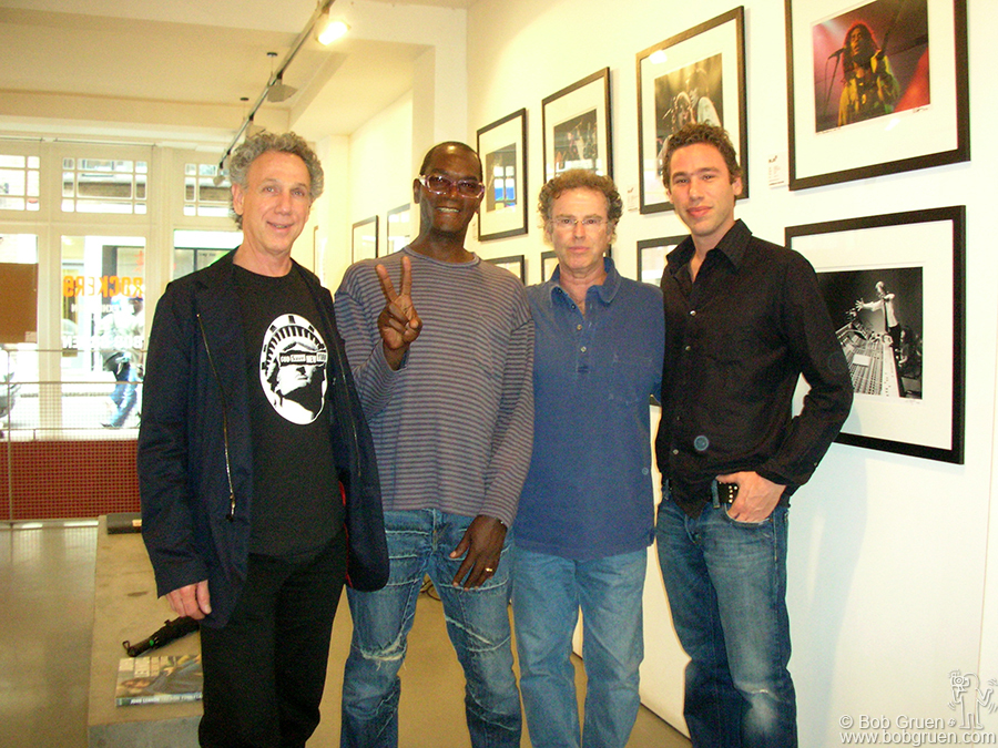 June 14 - London - I had an opening at Blink Gallery in London. Here I am with famed photographers Dennis Morris and Gered Mankowitz, and gallery owner Daniel Hay.