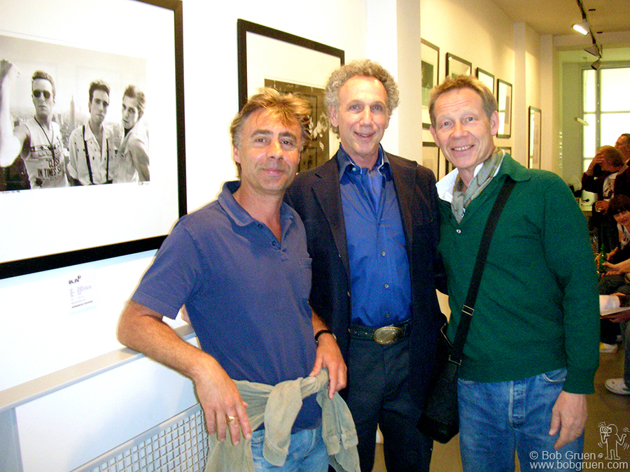 Glen Matlock & Paul Cook of the Sex Pistols were among the people who came to the opening at Blink Gallery.