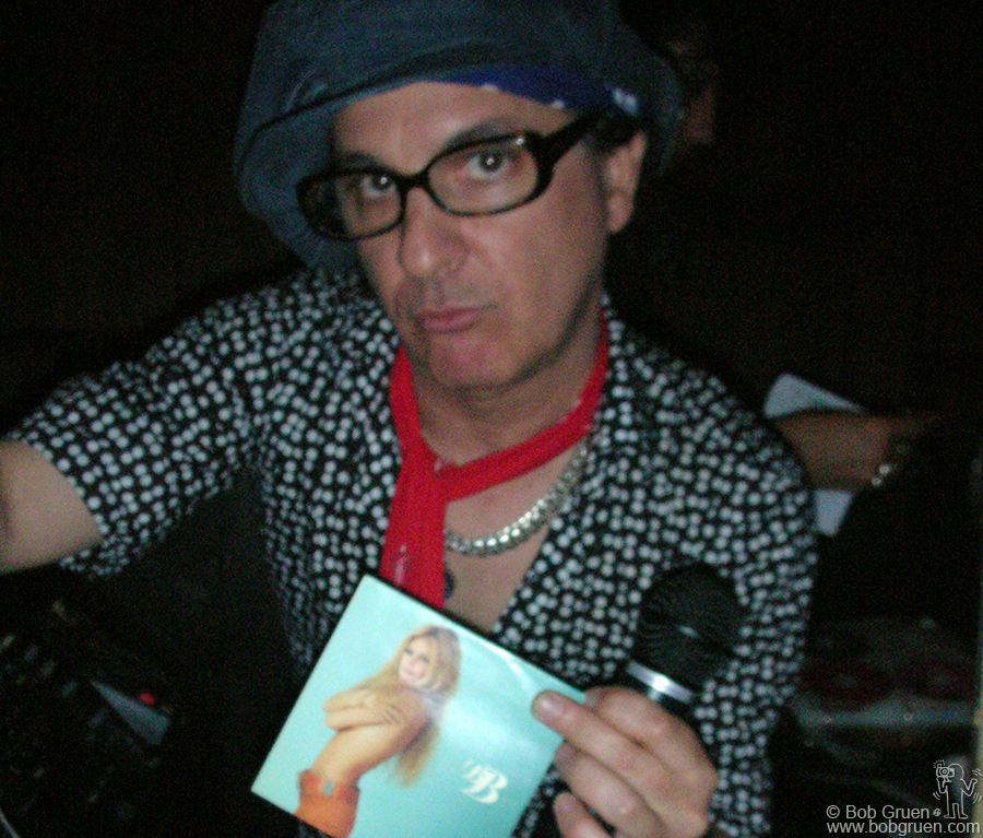 Later on the same night Syl DJ'ed at the CD Release Party for the Dolls new album playing an eclectic mix including the Bridget Bardot CD he's holding.