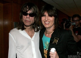 June 18 - Chrissie Hynde came to see one of her all-time favorite bands and says hi to old friend David Jo.