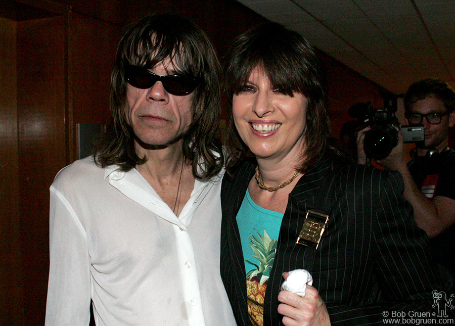 June 18 - London - Chrissie Hynde came to see one of her all-time favorite bands and says hi to old friend David Jo.