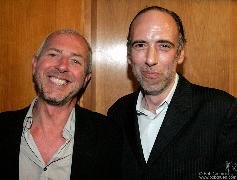 """Tony James and Mick Jones are all smiles as they told me about their new band """"Carbon Silicon""""."""