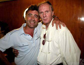 After the debut show Sex Pistols bassman Glenn Matlock says hello to his inspiration, Arthur.