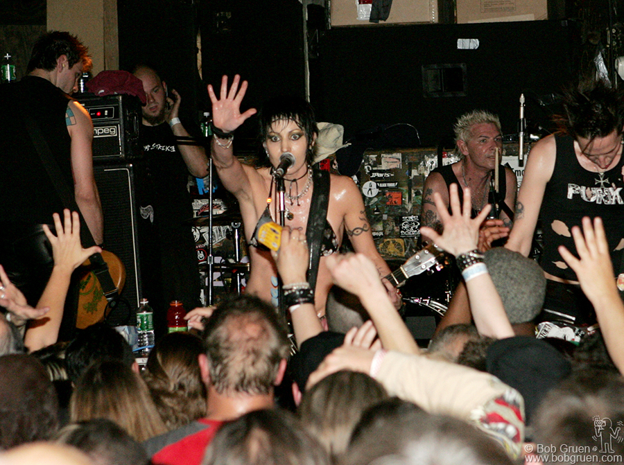 June 7 - NYC - Joan Jett released a new album called Sinner and played a great show at CBGB's.