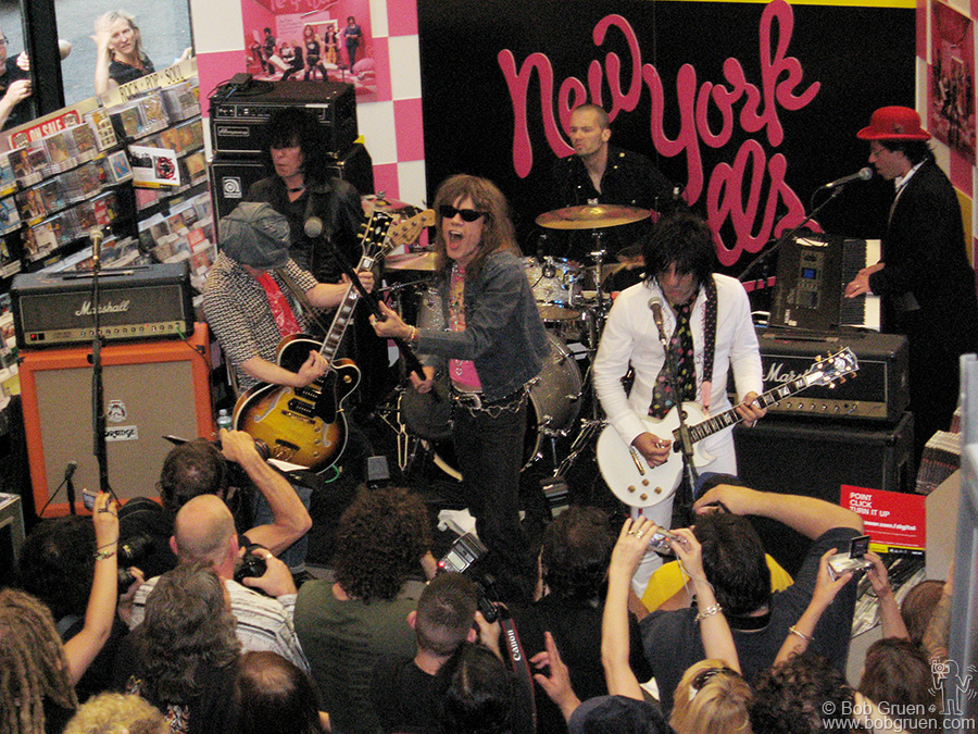 "July 25 - NYC - The New York Dolls celebrated the release of their new album ""One Day It Will Please Us To Remember Even This"" with a special in-store performance at Tower Records, NYC."