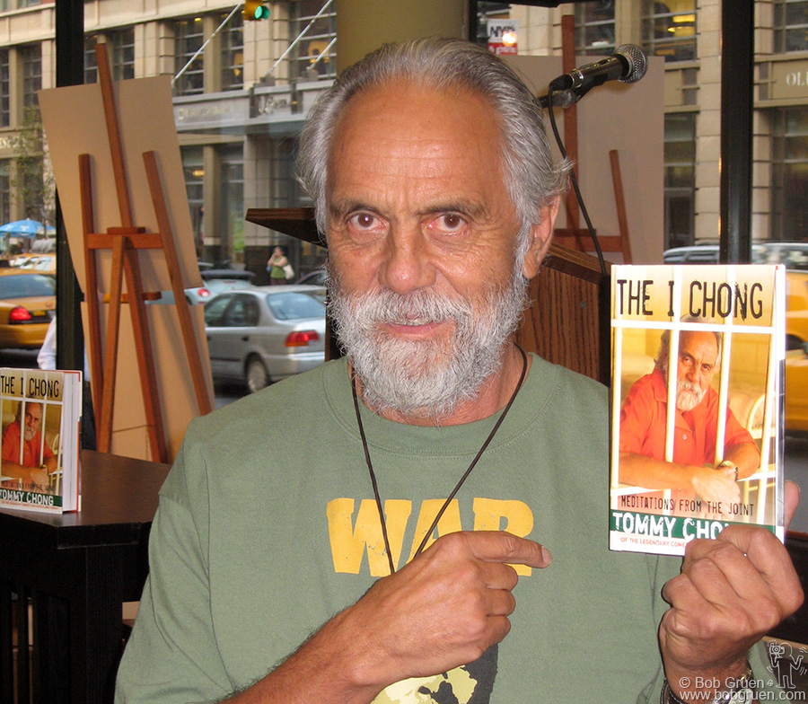 "Aug 14 - NYC - Tommy Chong at the reading for his new book ""The I Chong"" at Chelsea Barnes & Noble where he talked about his new-found spiritualism."