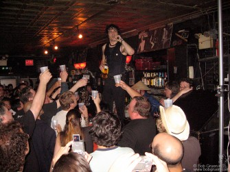 Sept 14 - Jesse Malin gave out free drinks to the fans who came to see his last show at Continental.