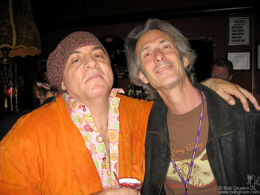 "Sept 21 - NYC - Little Steven's Underground Garage ""Rolling Rock and Roll Show"" rolled into Irving Plaza. Little Steven here with Lenny Kaye enjoying the sounds of the Zombies and the other great bands in the show."